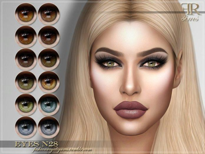 Глаза №28 от FashionRoyaltySims для Sims 4