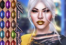 "Губная помада ""Тесса"" от KatVerseCC для Sims 4"