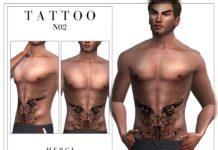 Татуировка с револьверами от -Merci- для Sims 4
