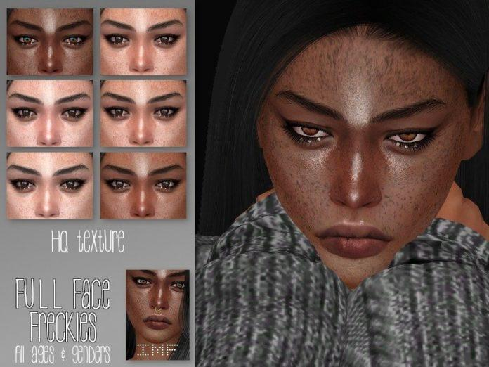 Веснушки от IzzieMcFire для Sims 4