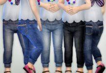 Джинсы для малышей от lillka для Sims 4