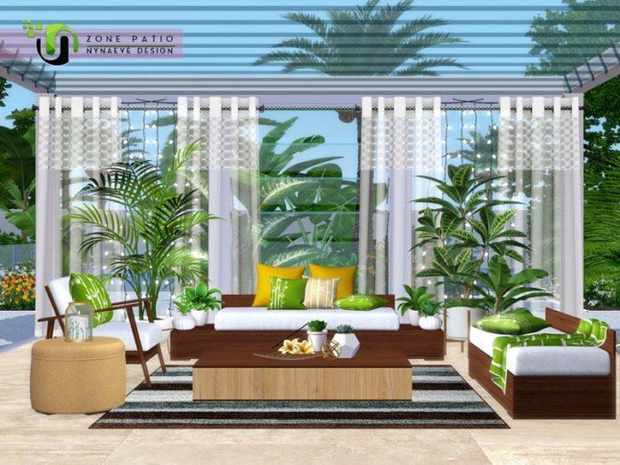 Внутренний дворик от NynaeveDesign для Sims 3