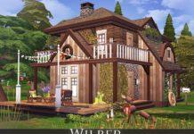Хижина Wilber от Rirann для Sims 4