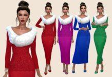 """Вечернее платье """"Зимний вечер"""" от Paogae для Sims 4"""