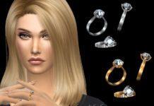 Кольцо с бриллиантом от NataliS для Sims 4