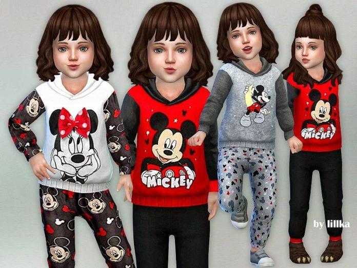 Пижама с Микки Маусом от lillka для Sims 4