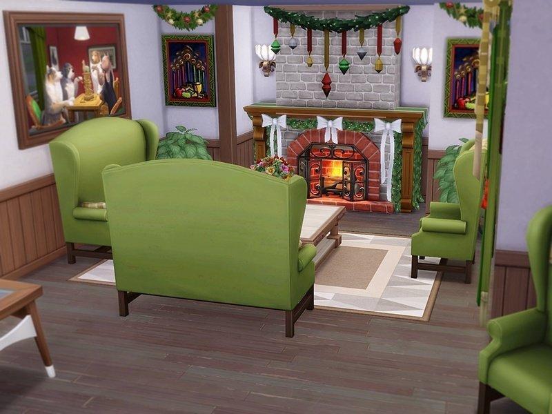 """Особняк """"Время рождества"""" от Xmas Time для Sims 4"""