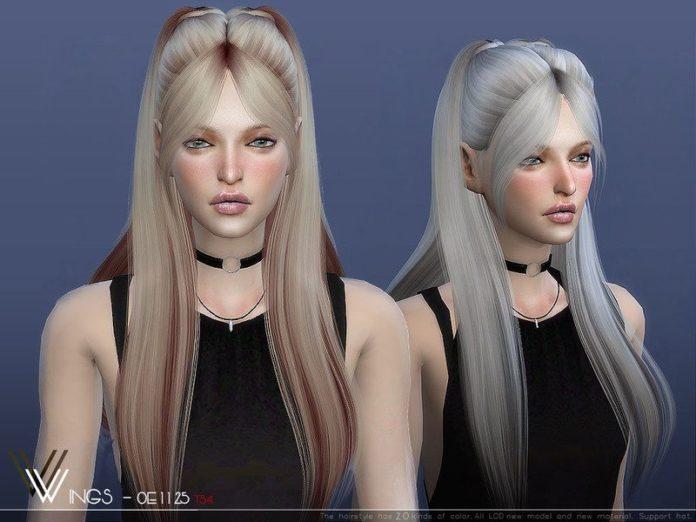 Прическа на длинные волосы от wingssims для Sims 4