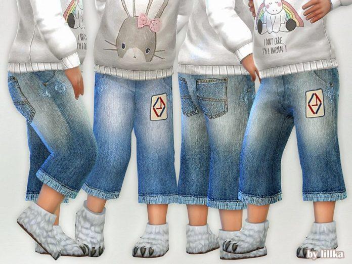 Детские джинсы от lillka для Sims 4
