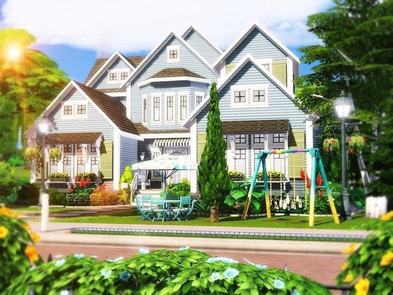 """Особняк """"Blue Beauty"""" от MychQQQ для Sims 4"""