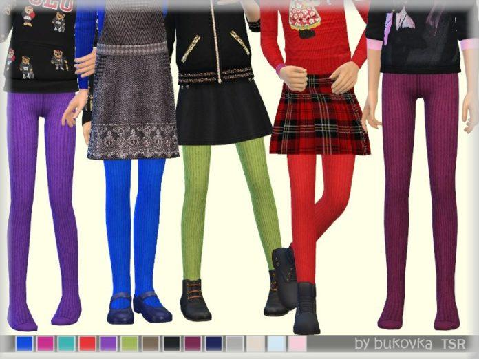Детские трикотажные колготки от bukovka для Sims 4