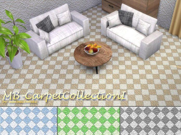 Ковролин с геометрическим узором от matomibotaki для Sims 4