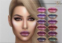 Глянцевая голографическая помада от FashionRoyaltySims для Sims 4