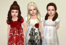 Праздничные платьица для девочек от lillka для Sims 4