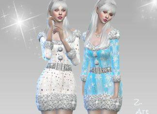Женский новогодний костюм от Zuckerschnute20 для Sims 4