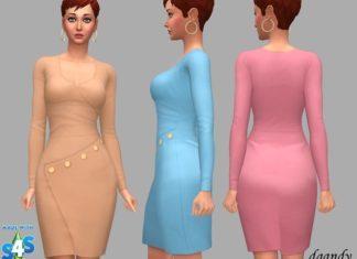 "Платье ""Жасмин"" от dgandy для Sims 4"