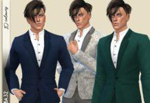 "Мужской костюм ""Резонанс"" от Birba32 для Sims 4"