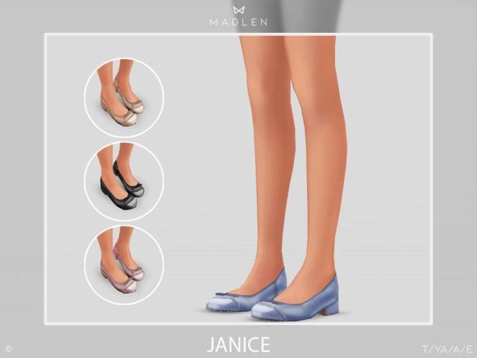 Круглоносые туфли от MJ95 для Sims 4