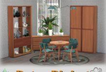 "Столовая ""Ретро"" от BuffSumm для Sims 4"