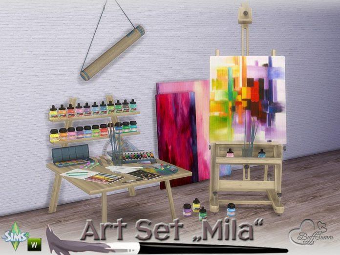 Набор для мастерской художника от BuffSumm для Sims 4