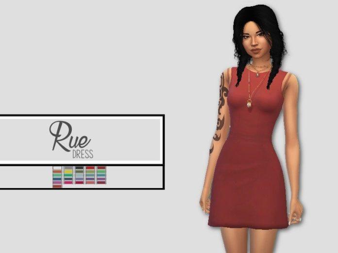 Простое платье от christopher067 для Sims 4