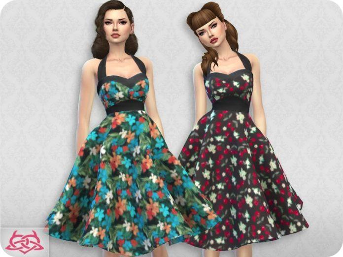 Платье Сара от Colores Urbanos для Sims 4