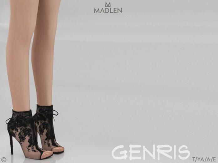 Полуботинки с открытым носом Genris от MJ95для Sims 4