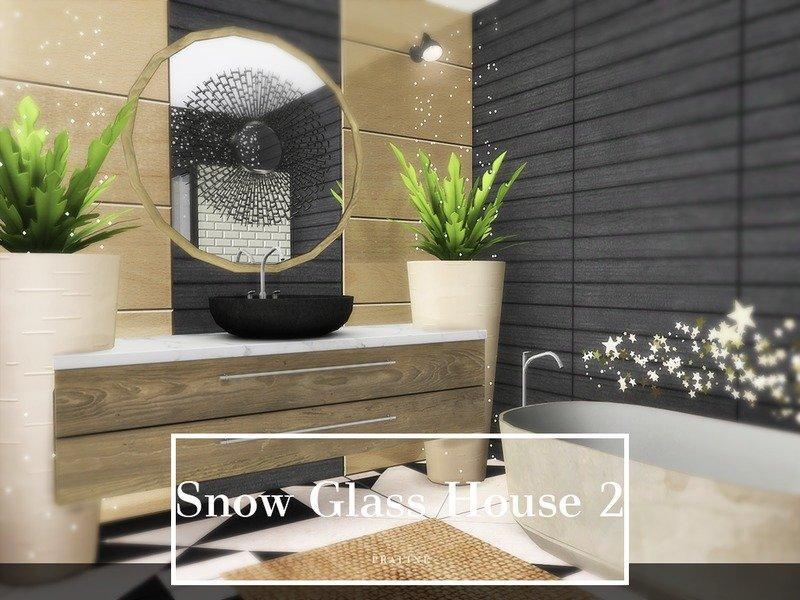 "Дом ""Снежное текло"" от Pralinesims для Sims 4"