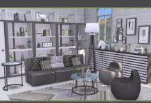 "Гостиная ""Каролина"" от soloriya для Sims 4"