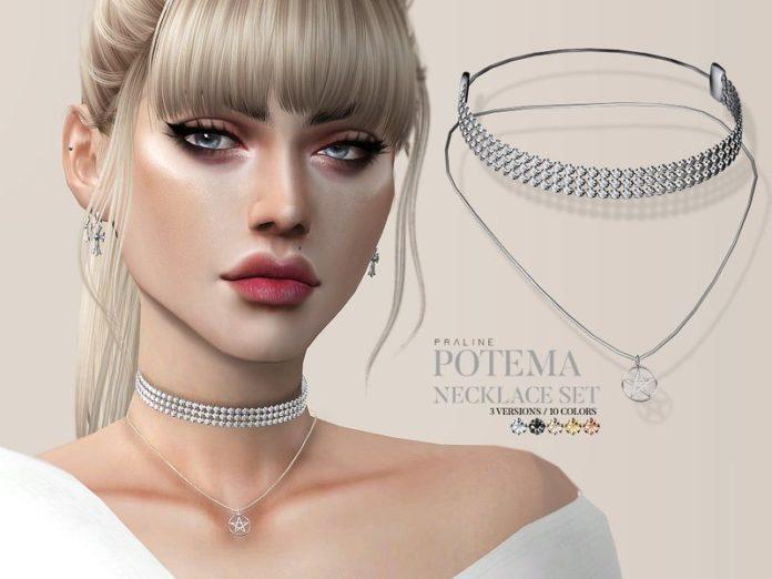 Набор женских украшений Potema от Pralinesims для Sims 4