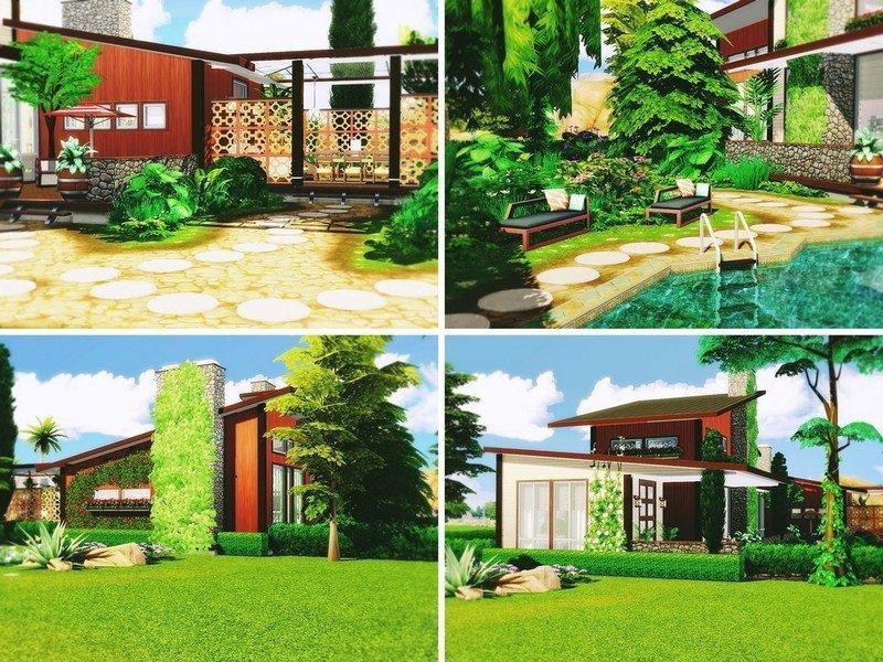 """Дом """"Солнечный ветер"""" от MychQQQ для Sims 4"""