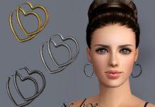 """Серьги """"Сердце"""" от NataliS для Sims 3"""