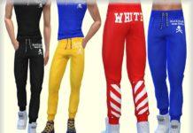 """Спортивные штаны """"White"""" от bukovka для Sims 4"""