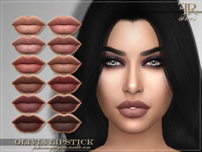 Помада для губ Emilly от FashionRoyaltySims для Sims 4