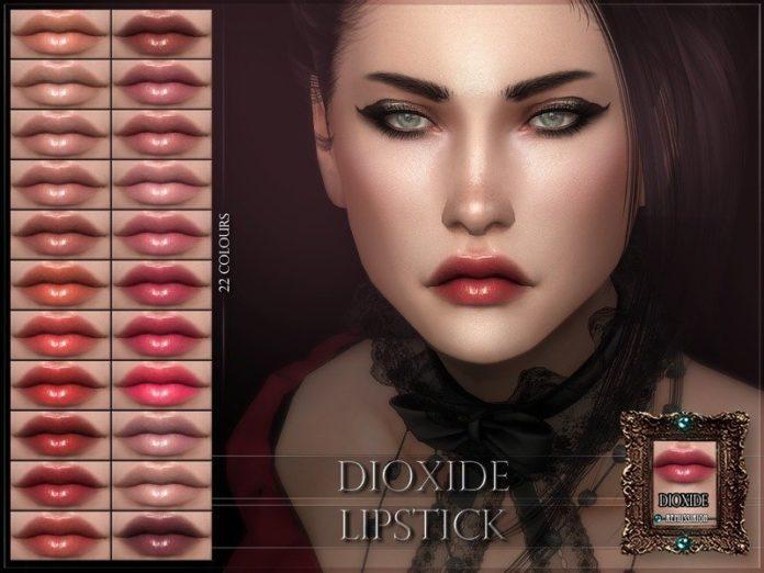 Перламутровая губная помада Dioxide от RemusSirion для Sims 4
