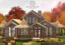 """Дом """"Осенний"""" от Aquarhiene для Sims 3"""