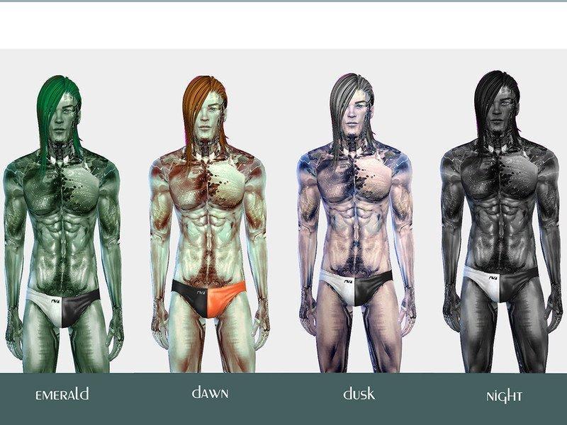 "Скин ""Киборг"" от yugoza для Sims 4"
