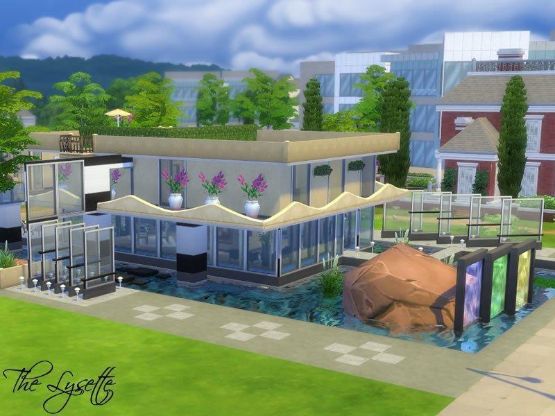 Дом The Lysette от Starmanut для Sims 4