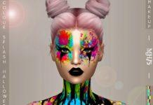 "Грим ""Брызги краски"" от Margeh-75 для Sims 4"