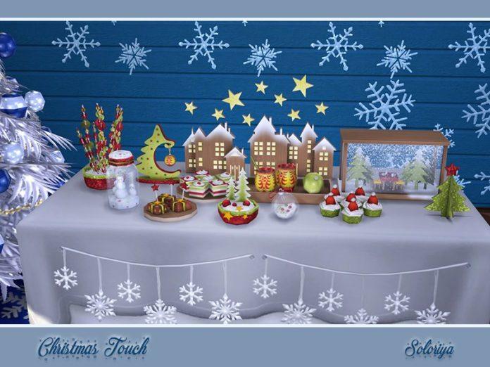 Декор для рождества от soloriya для Sims 4