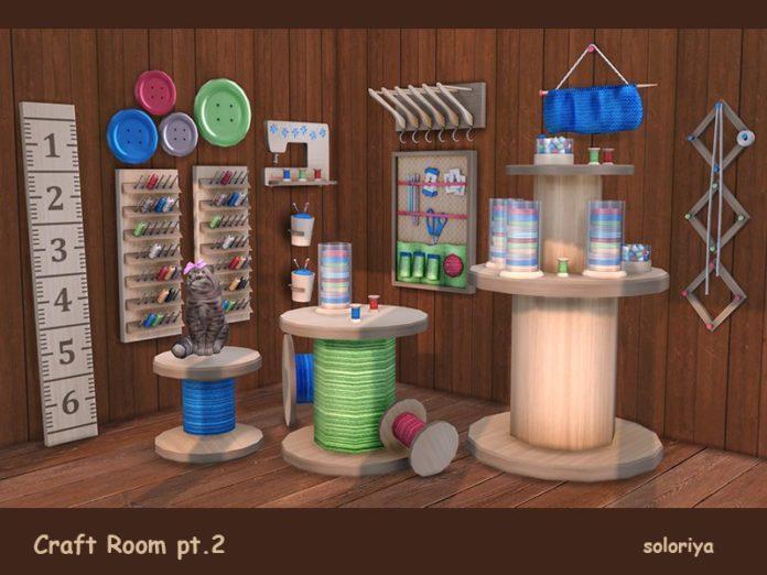 Рукодельная мастерская от soloriya для Sims 4