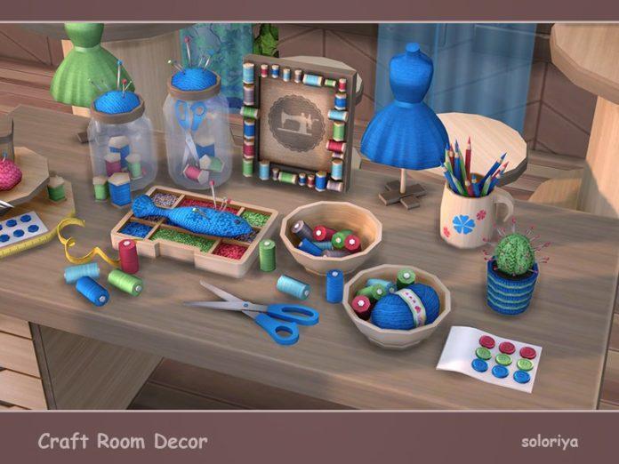 Набор для handmade-мастерской от soloriya для Sims 4