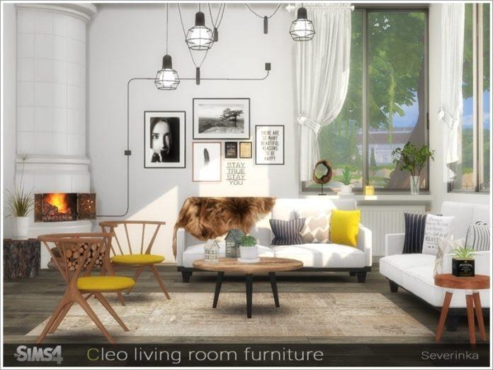 Гостиная Клео от Severinka_ для Sims 4