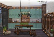 Кухня Индастриал от SIMcredible! для Sims 4