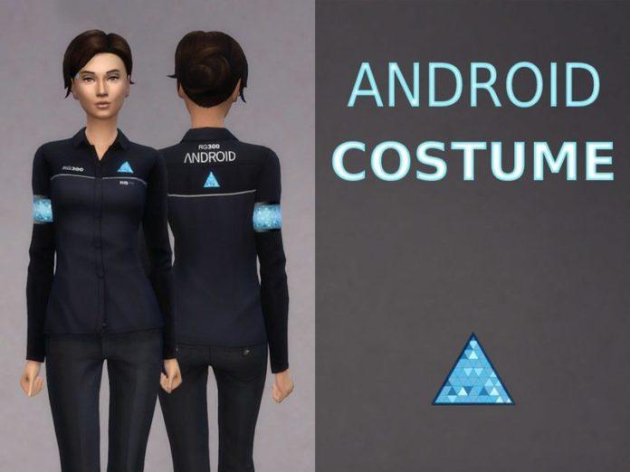 Женский костюм андроида от Léda для Sims 4