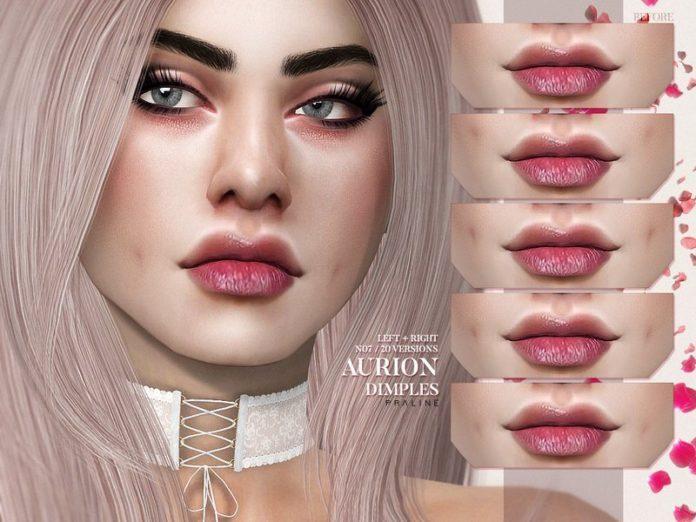 Ямочки на щеках от Pralinesims для Sims 4
