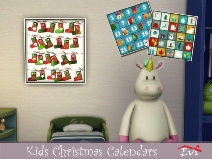 Адвент-календарь от evi для Sims 4