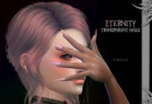 Прозрачные голографические ногти от Suzue для Sims 4