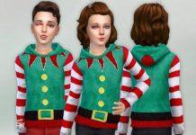 """Детская толстовка """"Костюм эльфа"""" от lillka для Sims 4"""
