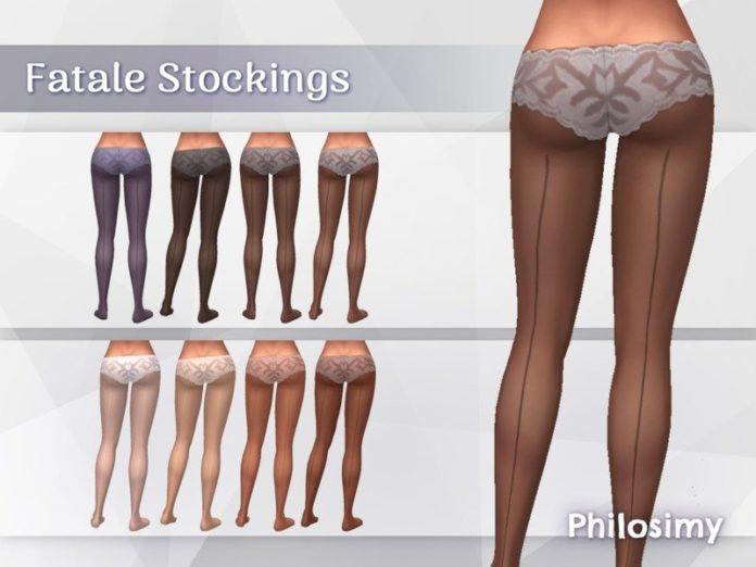 Колготки с строчкой сзади от Philosimy для Sims 4